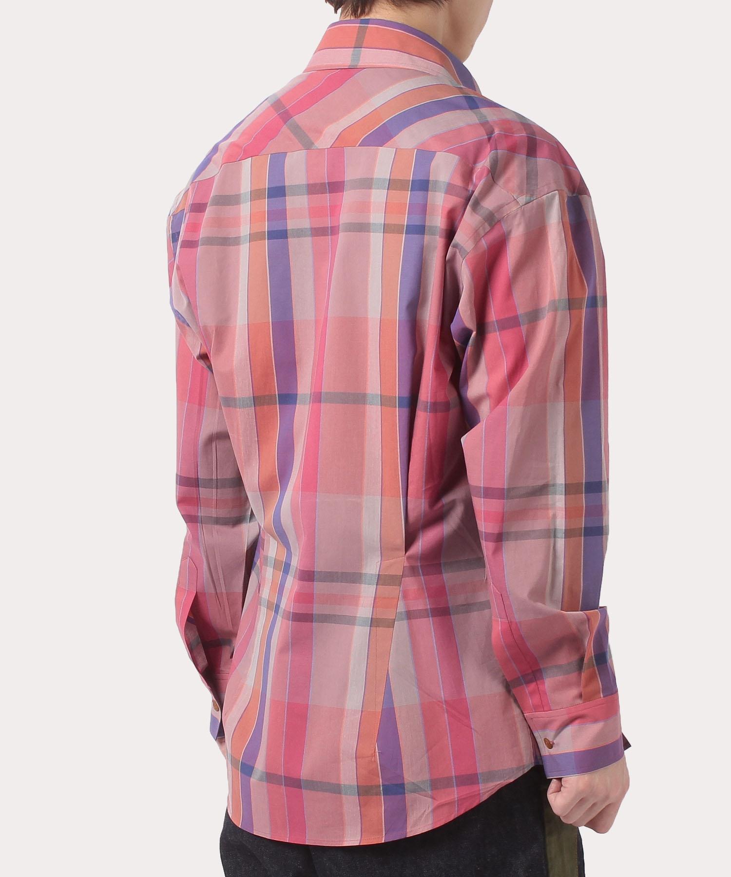 マドラスチェック ビッグポケット シャツ