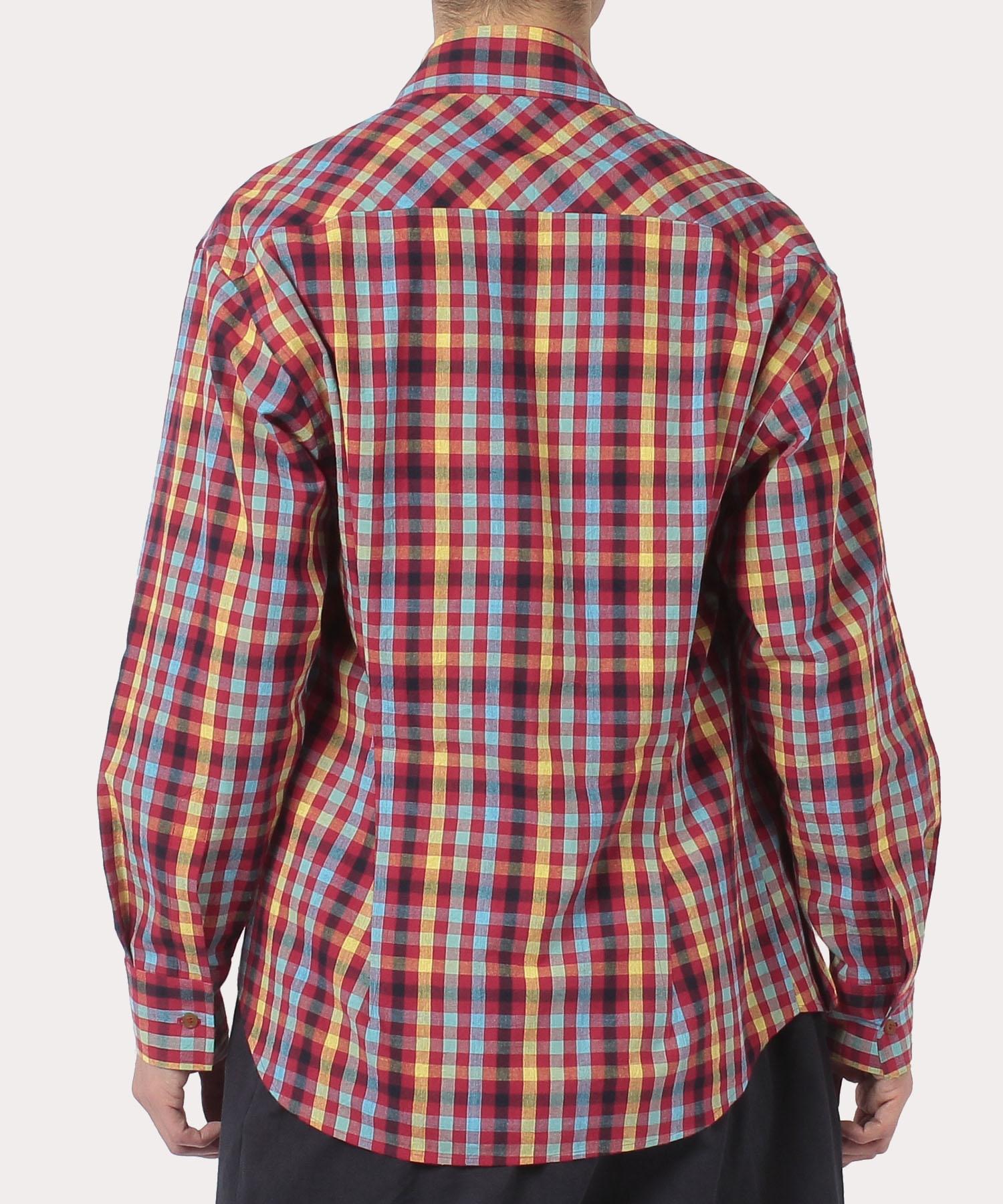 ギンガムチェック ビッグポケット シャツ