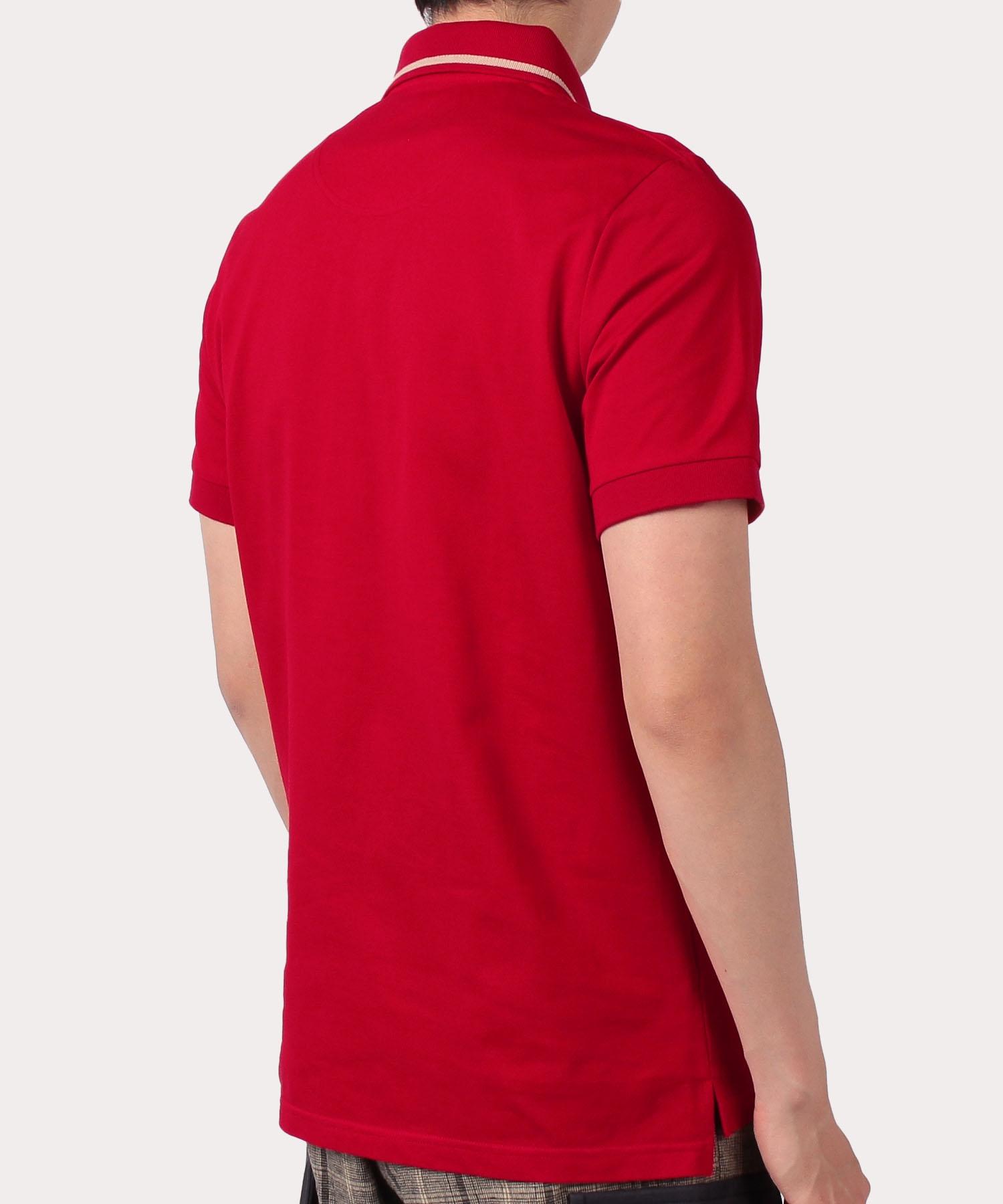 ORB刺繍ライン 半袖ポロシャツ