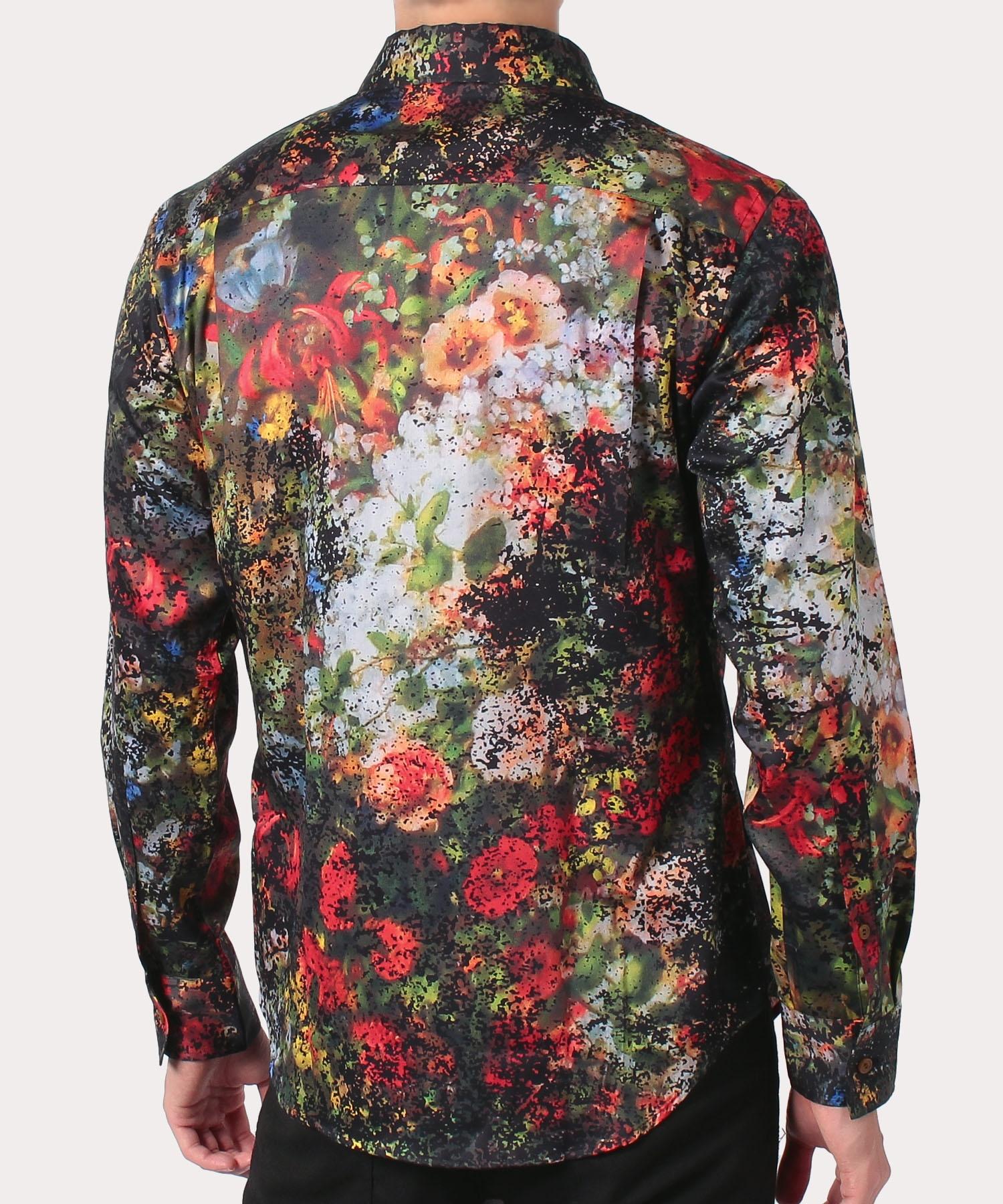 フラワーブーケプリント クラシックシャツ