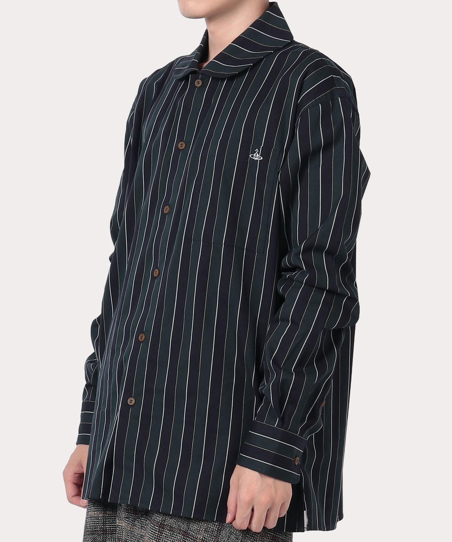 ストライプ ピーターパンシャツ