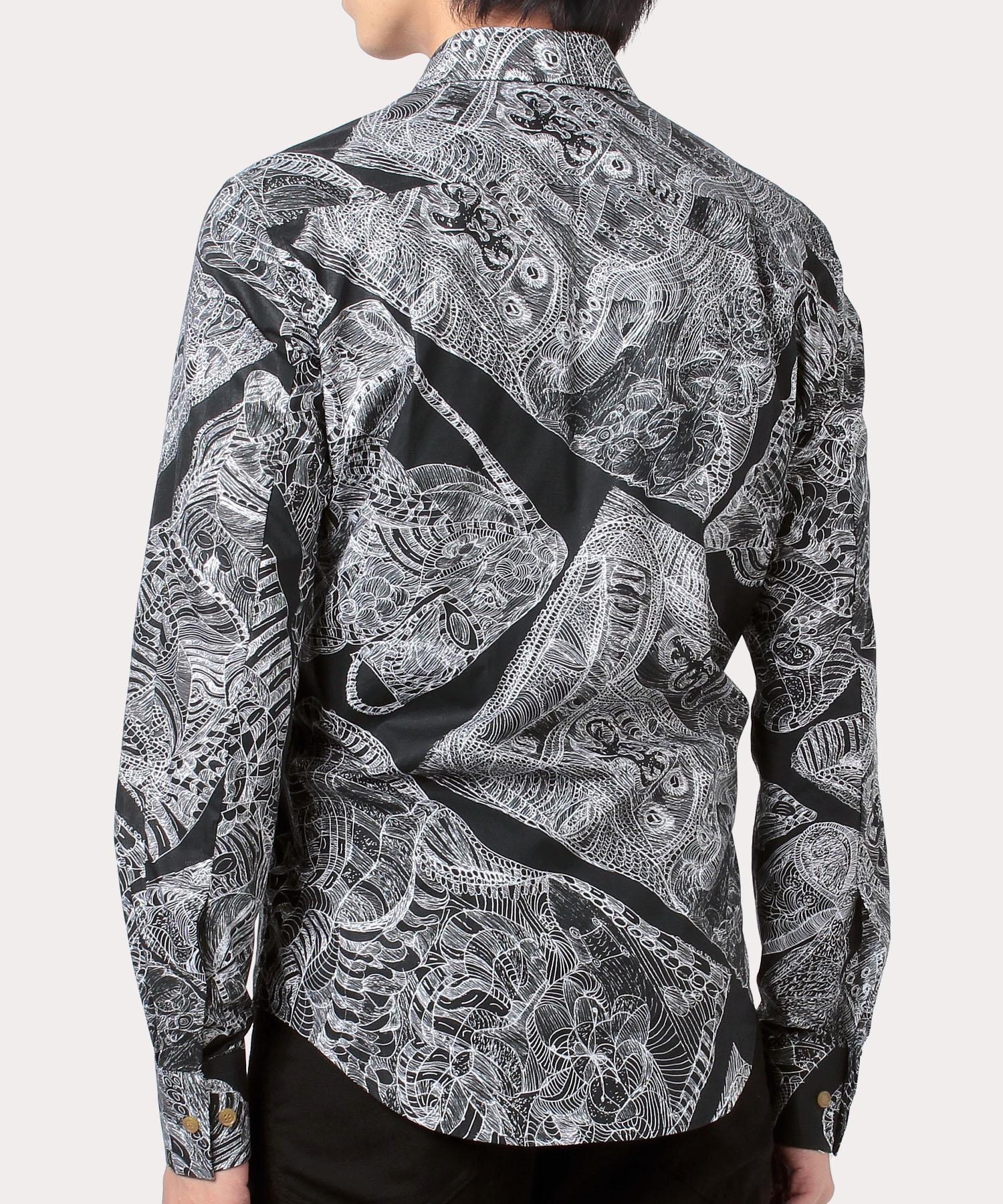 ANTHONY NEWTON PRINT SLIM シャツ