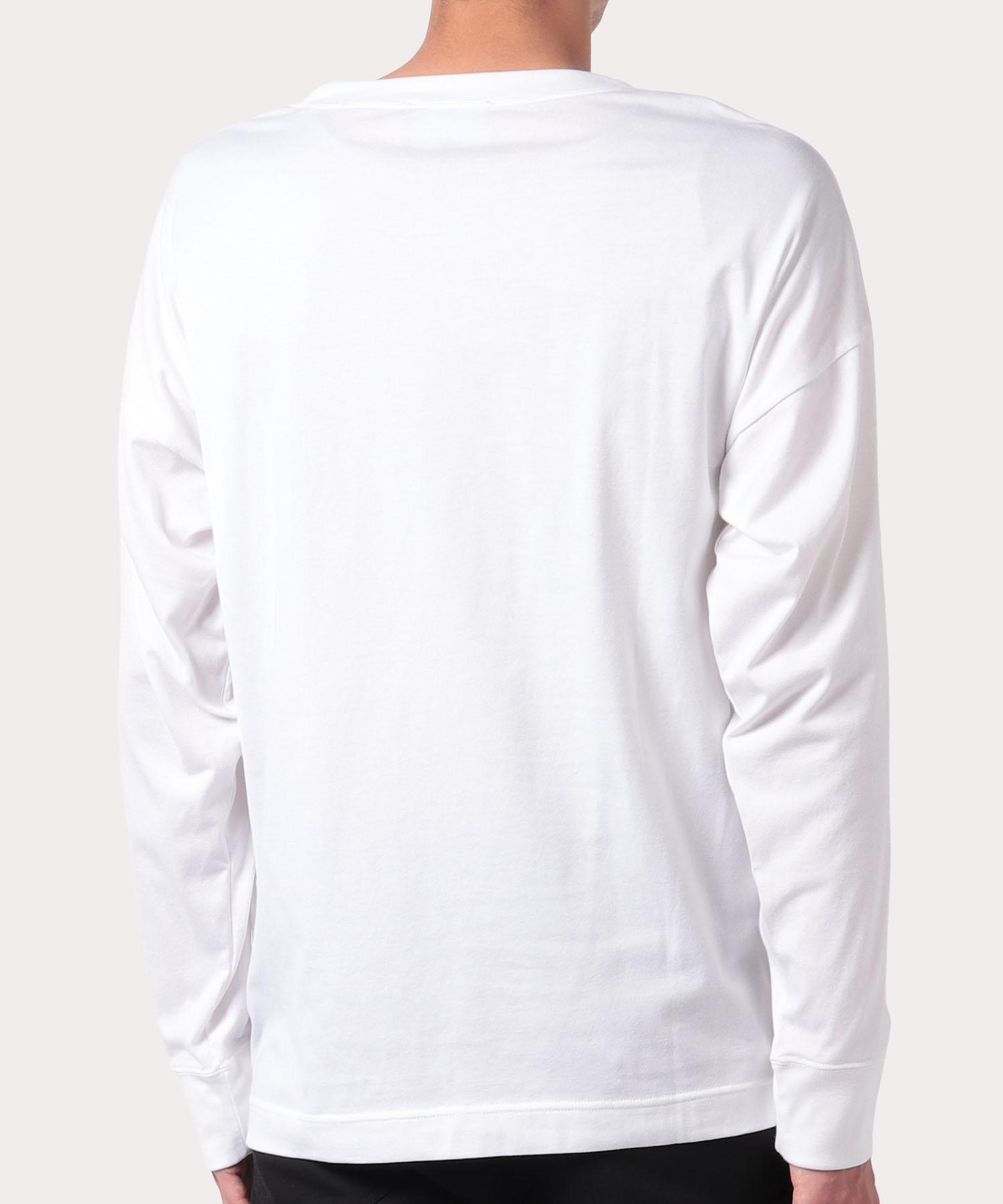 タグ トライアングル長袖Tシャツ