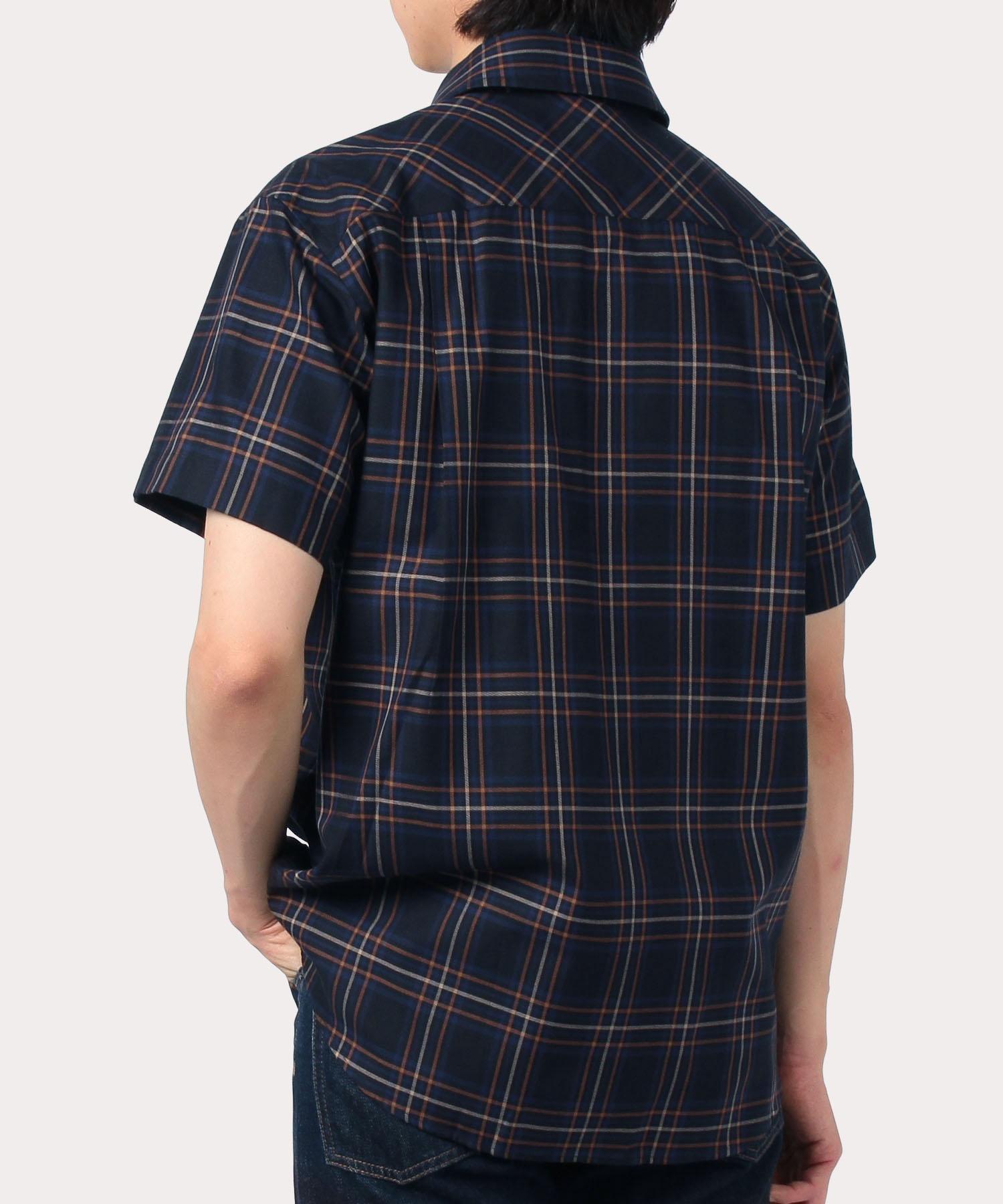 ヘイジーチェック 半袖リラックスシャツ