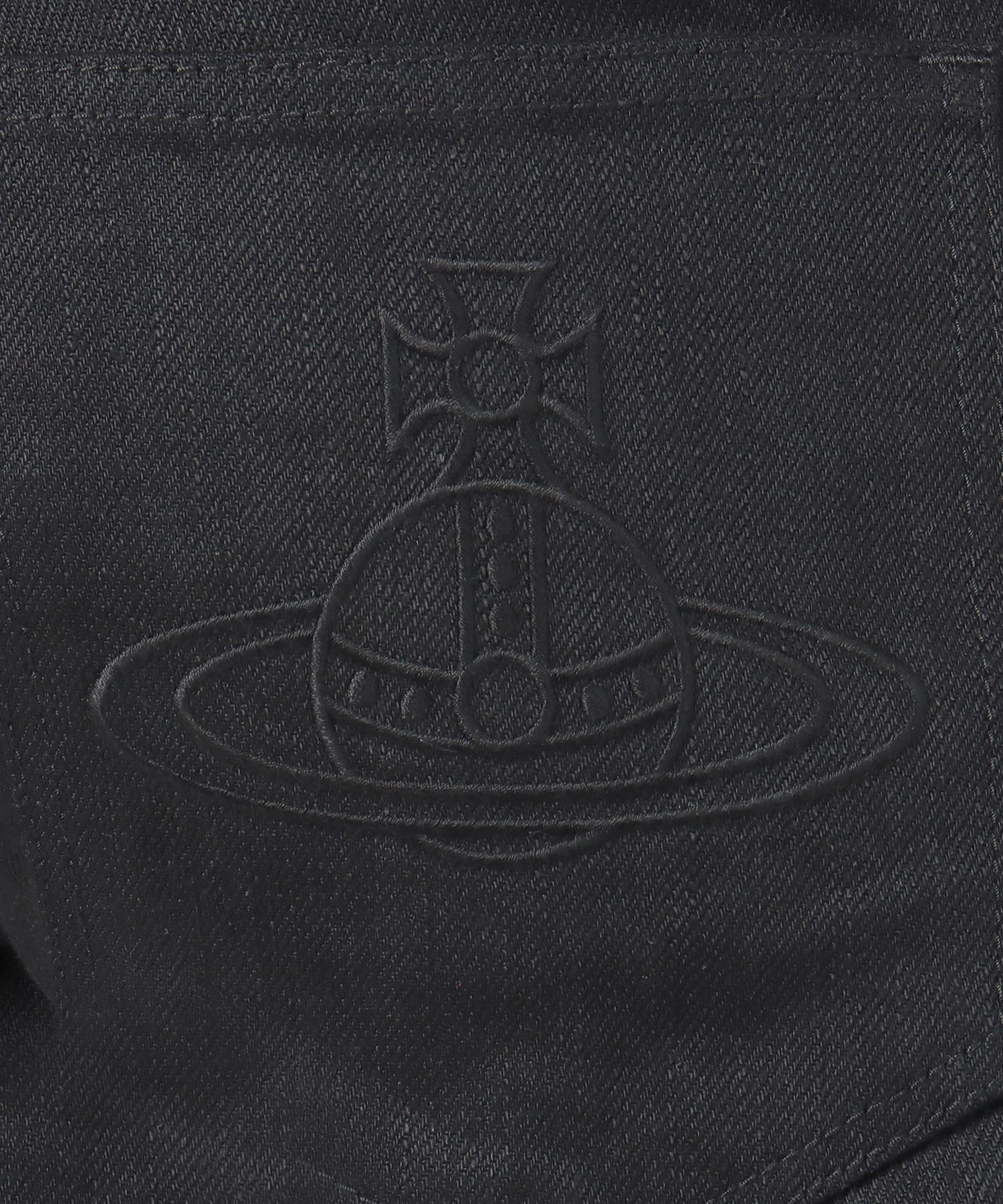 ORB刺繍 スキニーデニム