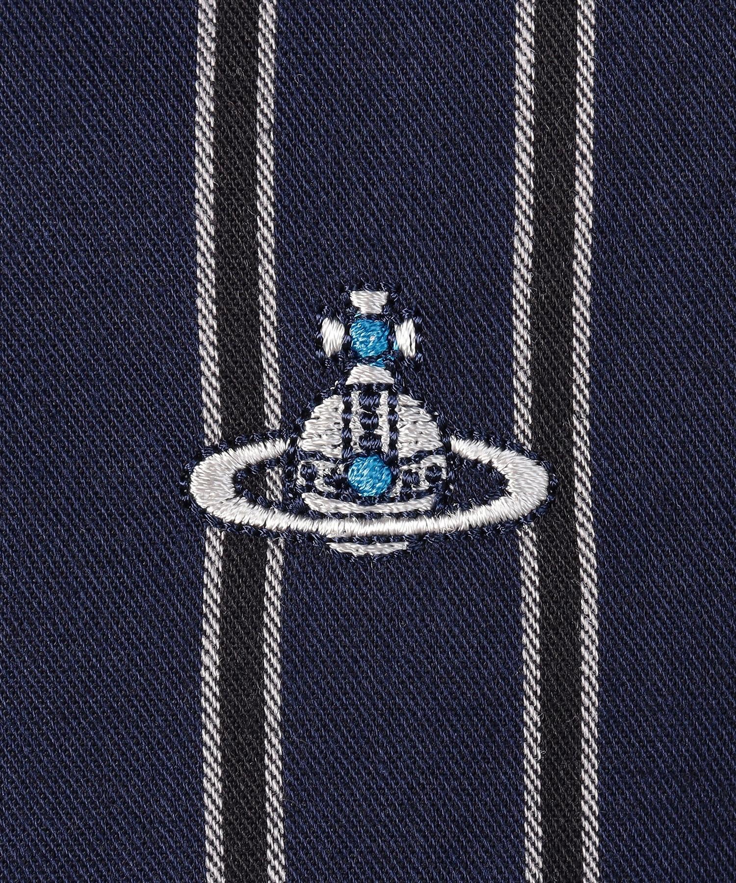 ストライプ ディストーションシャツ