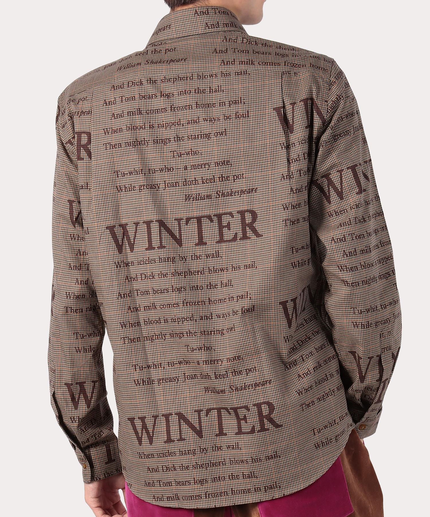 WINTERチェック 2ボタンシャツ