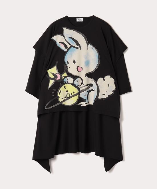 オンラインショップ限定 バニーハニーエレファント ドレープチュニック半袖Tシャツ