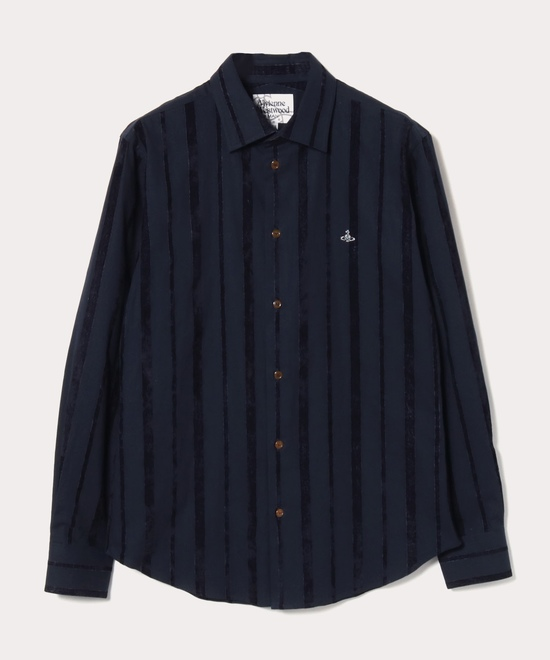 ベルベットストライプ クラシックシャツ