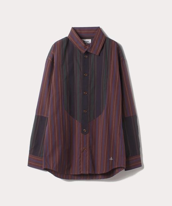 ストライプ ビブシャツ