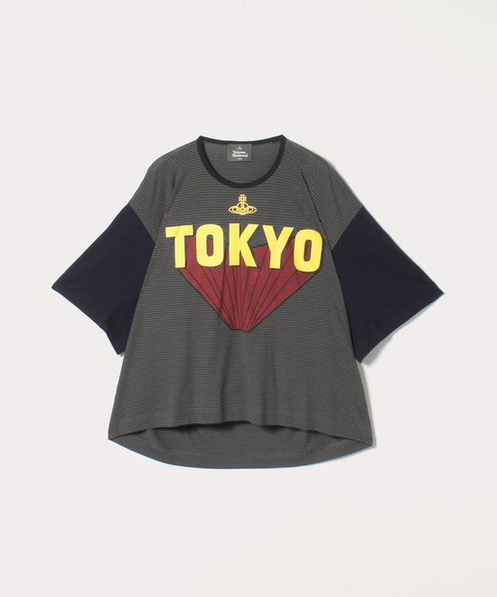 TOKYOコントラスト ビッグTシャツ
