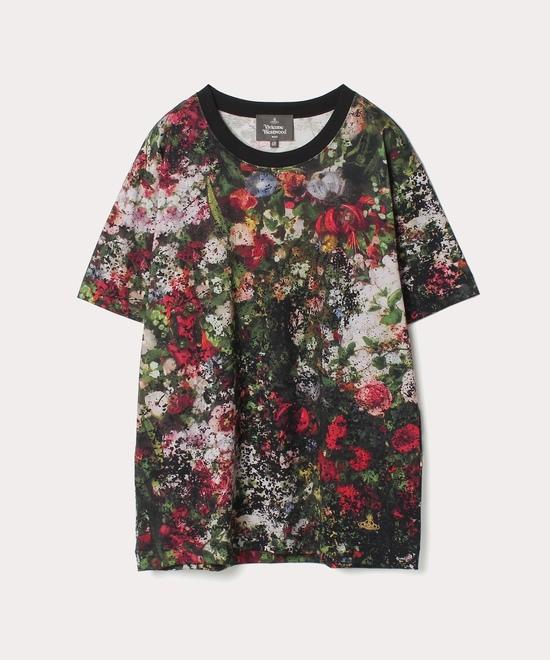 フラワーブーケプリント 半袖Tシャツ