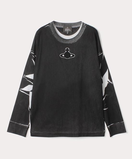 ORBパッチ フォールドシャドープリント 長袖Tシャツ