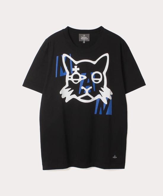 キャットプリント 半袖Tシャツ
