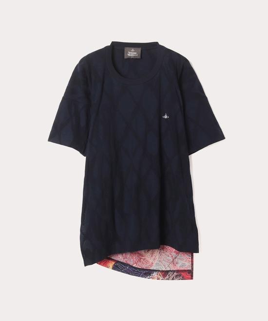アーガイルネット マテロット半袖Tシャツ