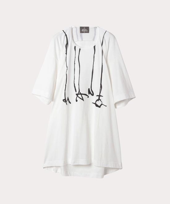 マン プリントドリップ ビッグロング半袖Tシャツ