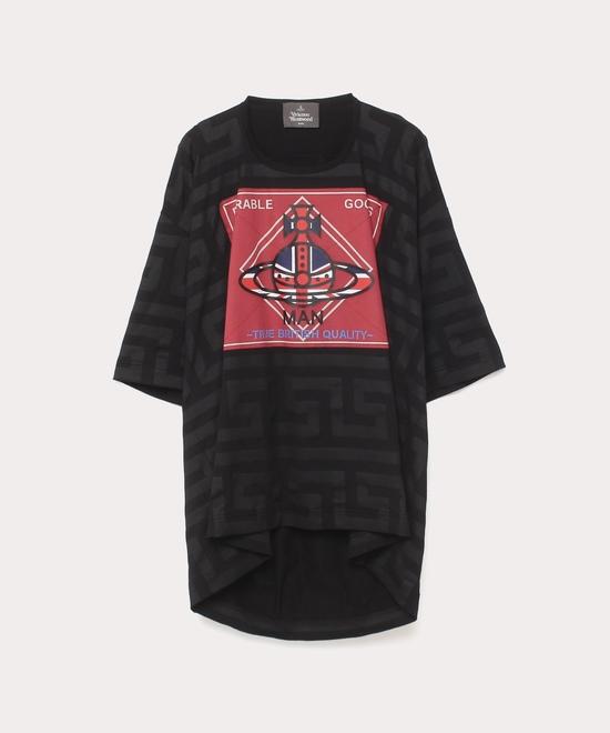 グリークキー&デュアブルパッチ ビッグTシャツ