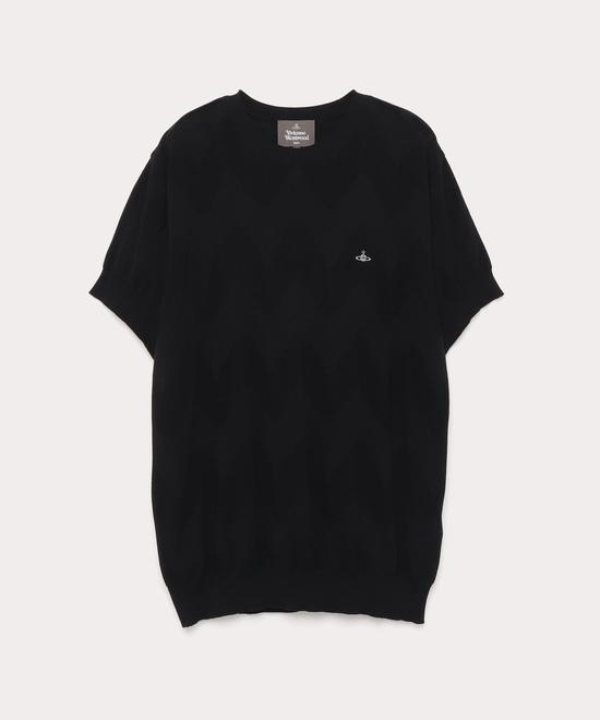 オンラインショップ限定 ジグザグ ジャカードリラックス半袖Tシャツ