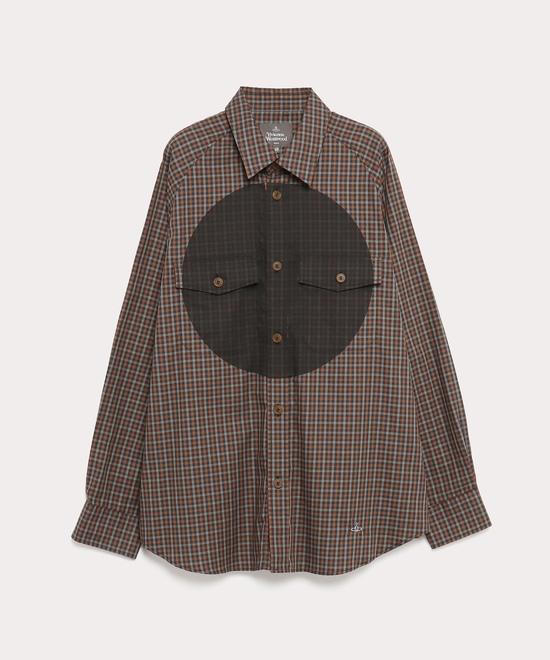 サークルプリント ラグランジョッキーシャツ