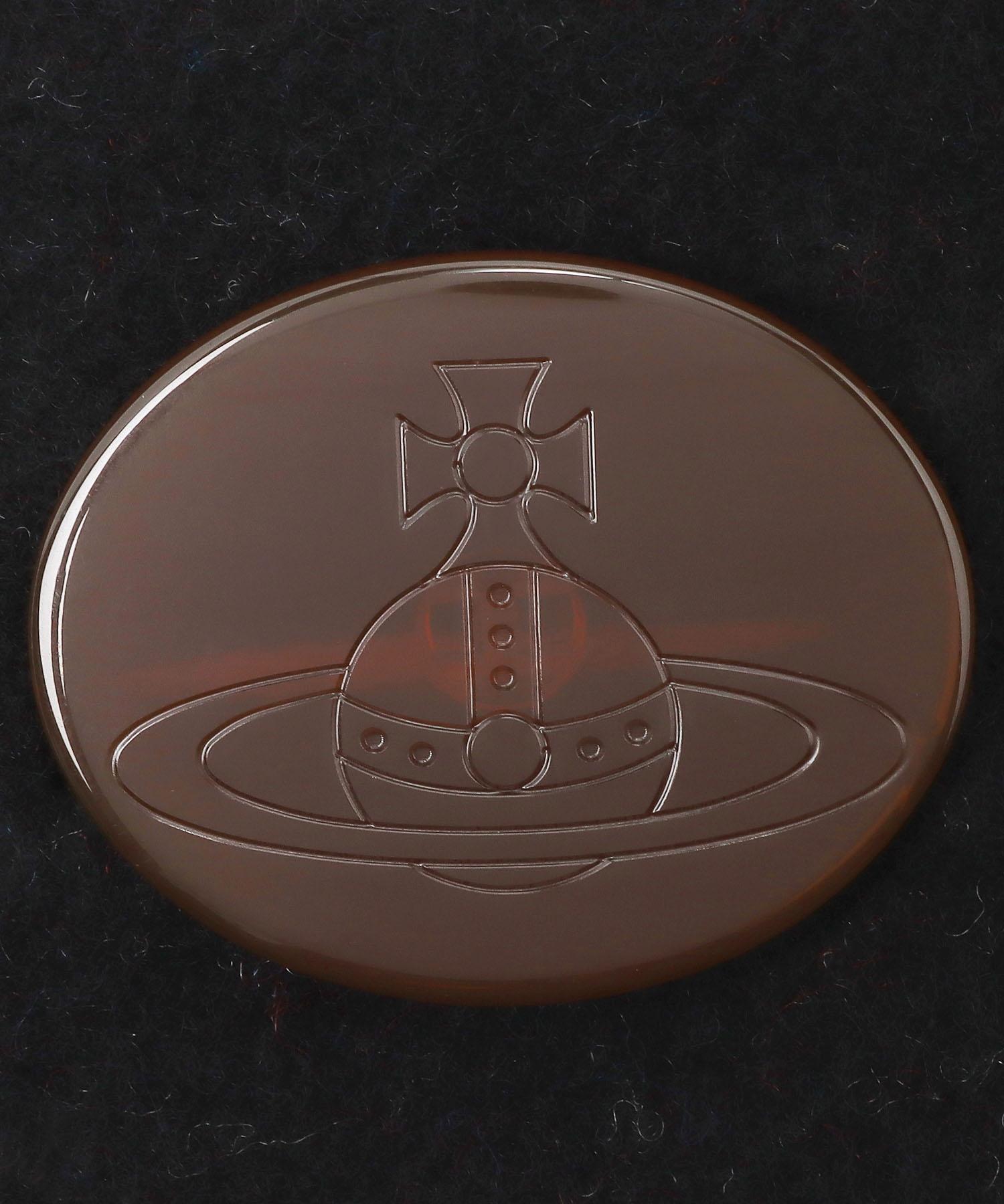 タータン リバーシブルボタン付ストール