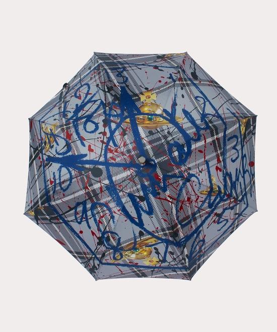 タータンプリント 一枚張り傘