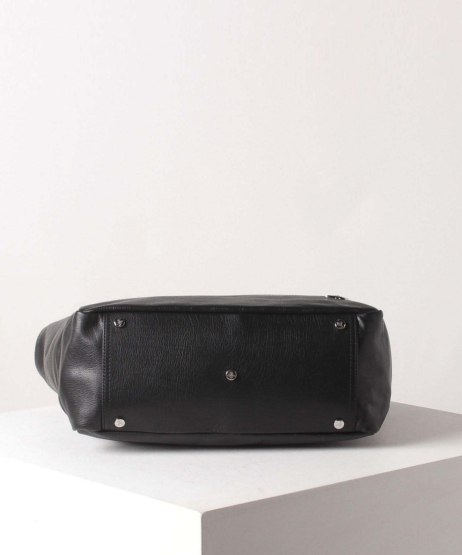 アセットレザー メンズ横型トートバッグ