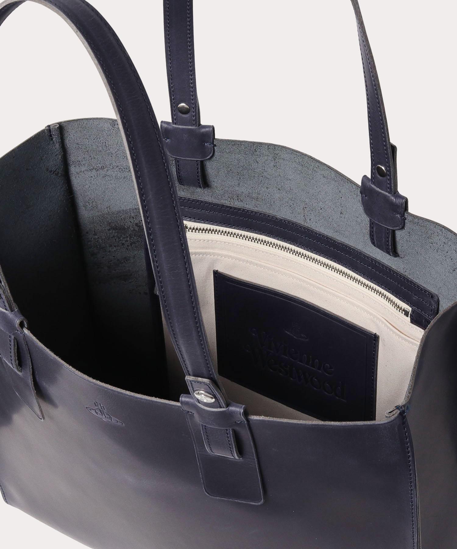 シンプルレザー メンズトートバッグ