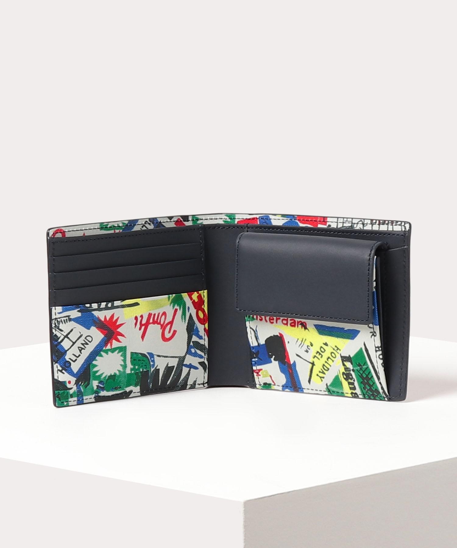 トラベルプリント 二つ折り財布