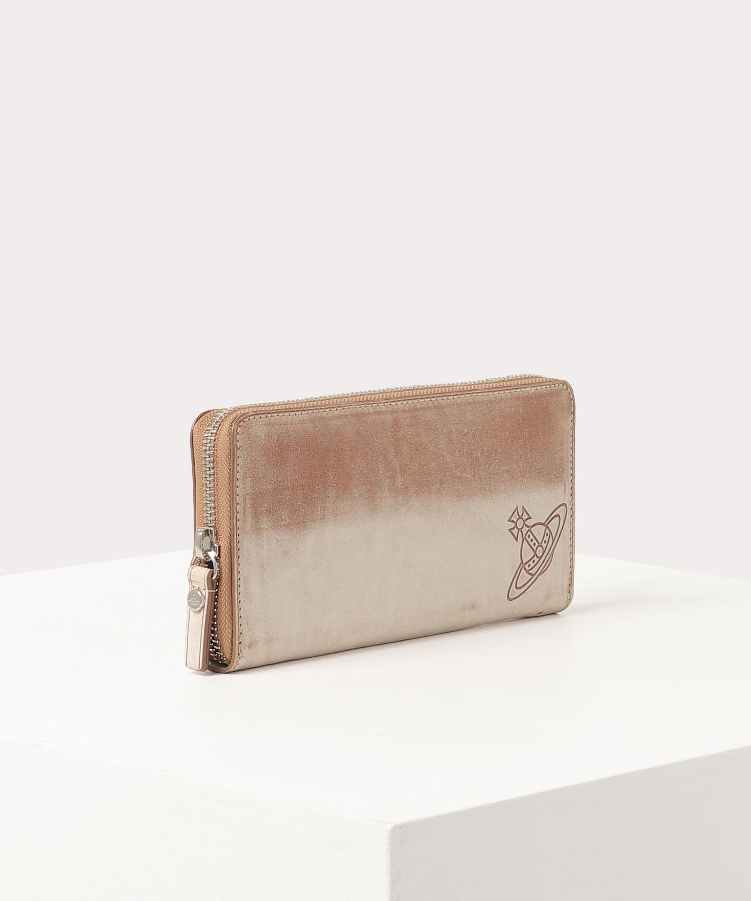 ワックス ラウンドファスナー長財布