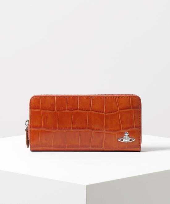 クロコ ラウンドファスナー長財布