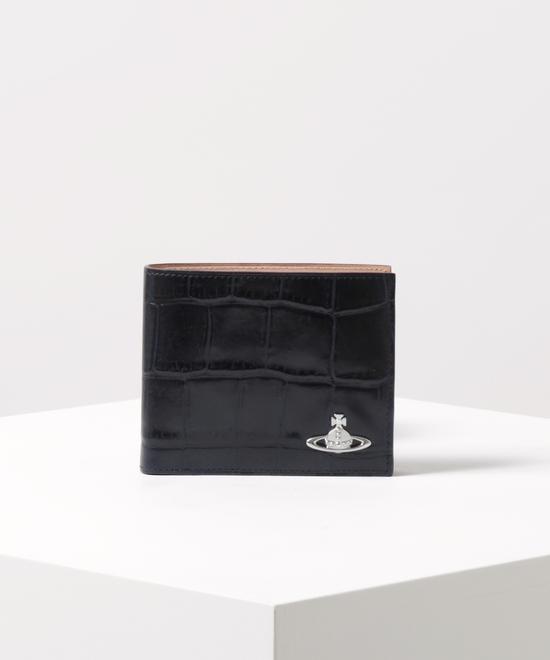 クロコ 二つ折り財布