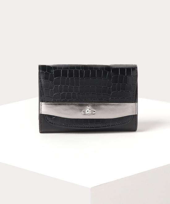 メタリック 三つ折り財布