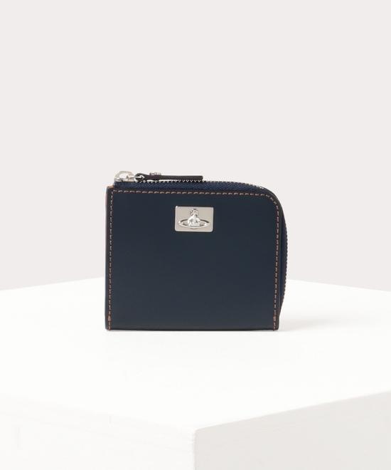 カラーステッチ L字ファスナー財布