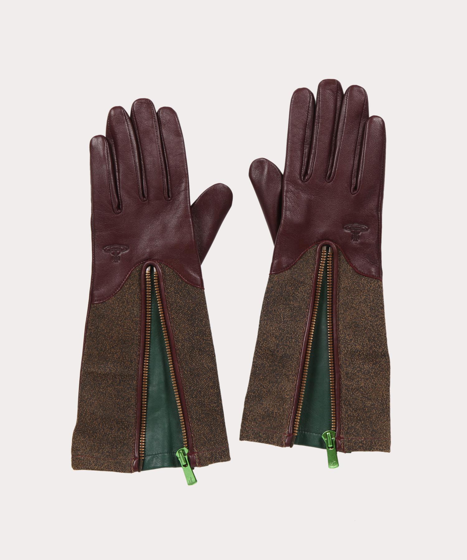 カラーファスナー ロング手袋