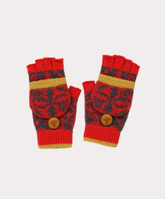 キルティングツリー ニット手袋