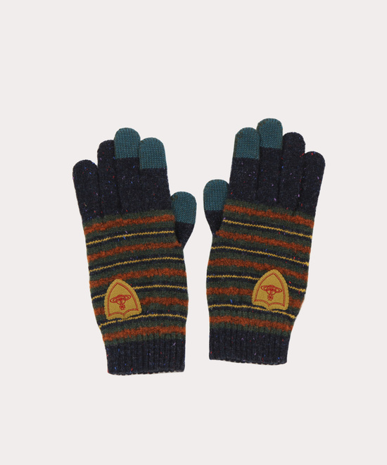 マルチカラーボーダー ニット手袋