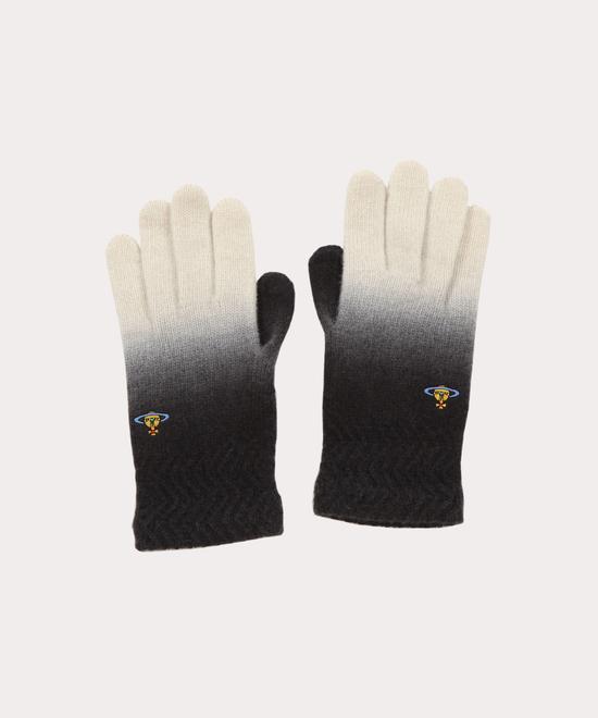 グラデーション ニット手袋