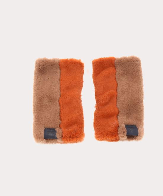 ファー フィンガーレス手袋