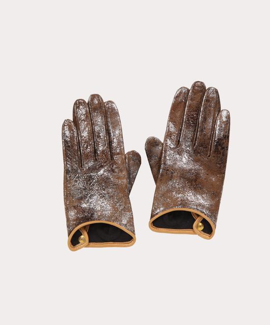 メタリック レザー手袋