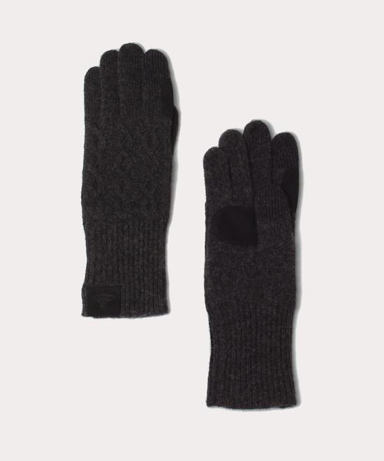 ケーブル編み ニット手袋