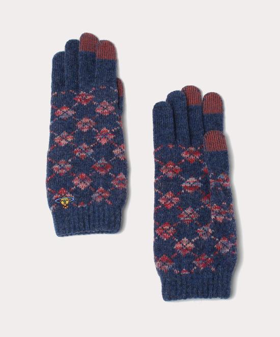 アーガイル ニット手袋