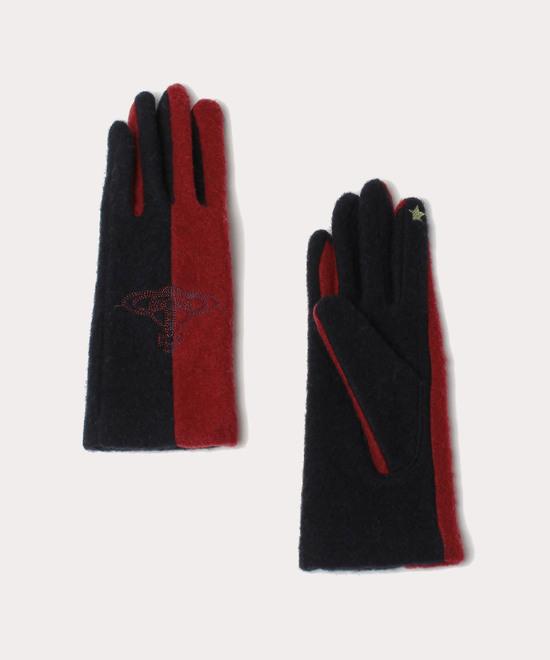 カラーブロッキング 手袋