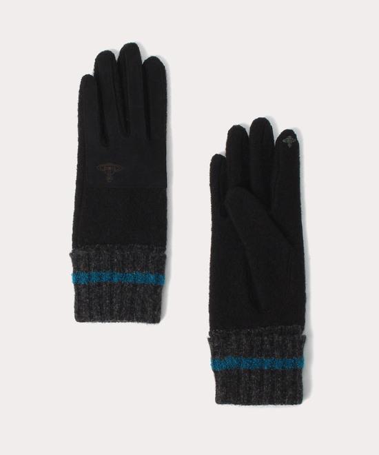 異素材コンビ アーミースタイル手袋
