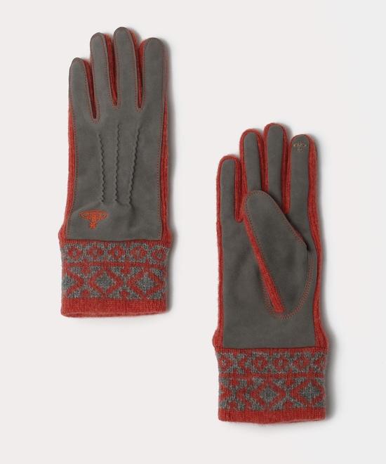 ピンクジャンパー ニットカフス手袋