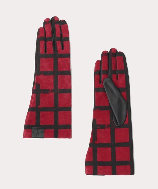 グリッド レザー手袋