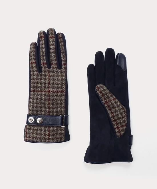 チェック&ベルト 手袋