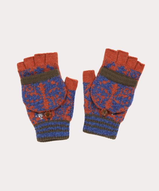 キルティングツリー メンズニット手袋