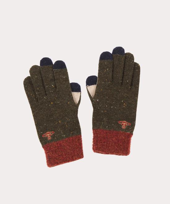 カラーブロック メンズ手袋
