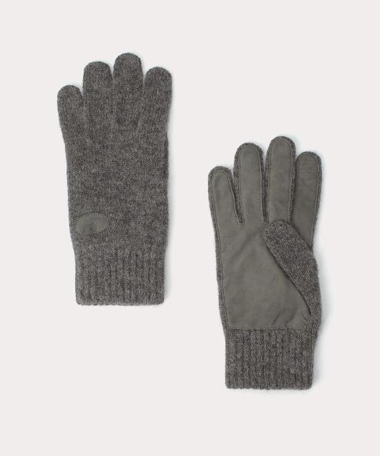 ベビーアルパカ メンズニット手袋