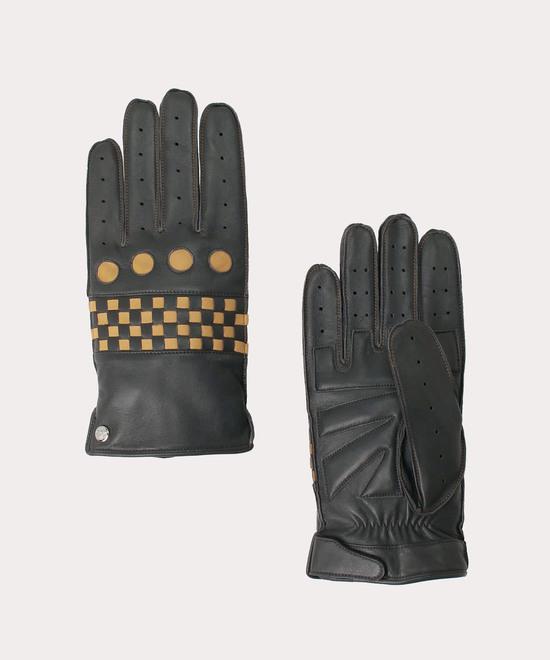 バイカースタイル メンズレザー手袋